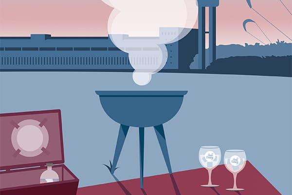 berlin distillery illustration